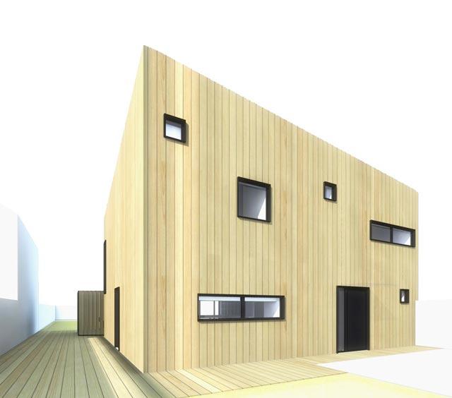 maison en bois à ossature bois à Montlignon(95)