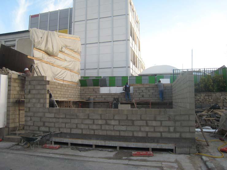 chantier de la maison écologique SO'House à St Ouen