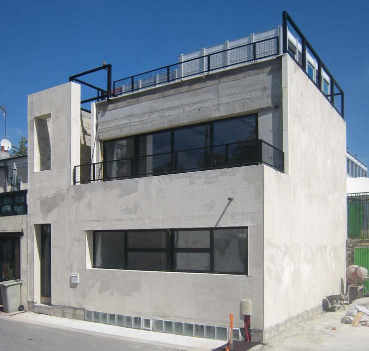 chantier de la maison ecologique de style industriel so'House à saint ouen