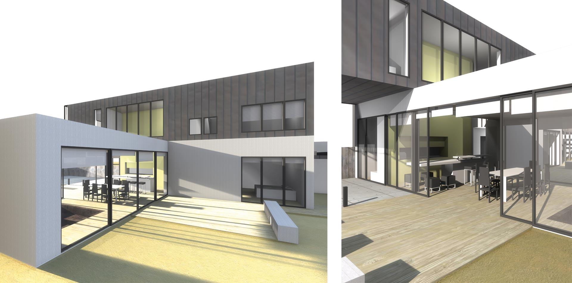 Maison basse consomation maison architecte bois 4 dtails for Maison basse moderne